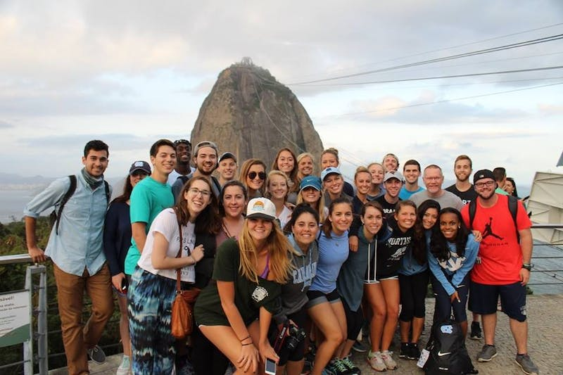 The UNC Media and Journalism students while taking a break from covering the Rio Olympics.Photo courtesy of Paul Beam