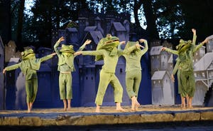 """Paperhand Puppet Intervention's """"City of Frogs"""" runs weekends through Sept. 9. This is the company's 13th annual summer show."""