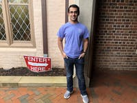 Junior computer science major Suvrat Jhamb poses at Chapel of the Cross before voting in his first midterm election. Jhamb, who was born in India and got his citizenship four years ago, went to the polls with his two friends.