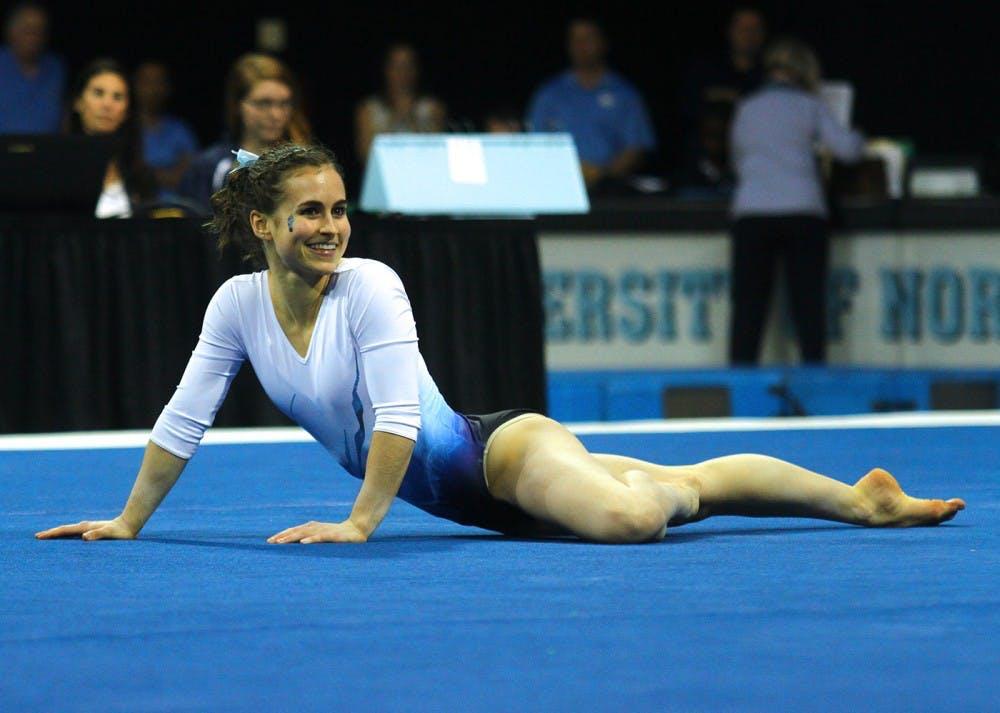 UNC gymnast Morgan Lane stays calm despite miscues