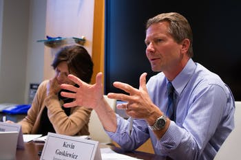 "Interim Chancellor Kevin Guskiewicz discussed the University's new strategic plan, Carolina Next: Innovation for Public Good, at the committee meeting on Wednesday, Nov. 25, 2019. Guskiewicz said, ""This is an ambitious plan, and we're identifying the metrics by which we will measure success for it."""