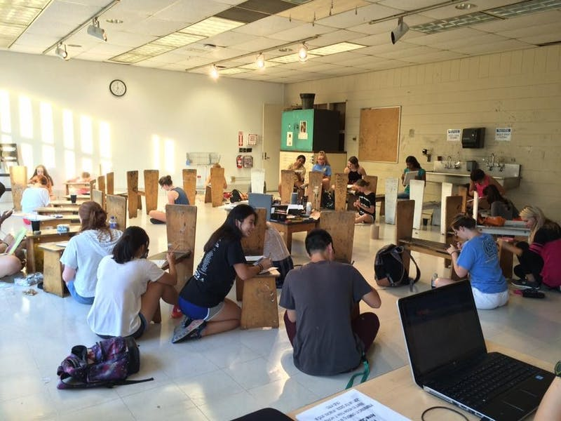 The Undergraduate Art Association hosts weekly open studios. Photo courtesy of the UAA.