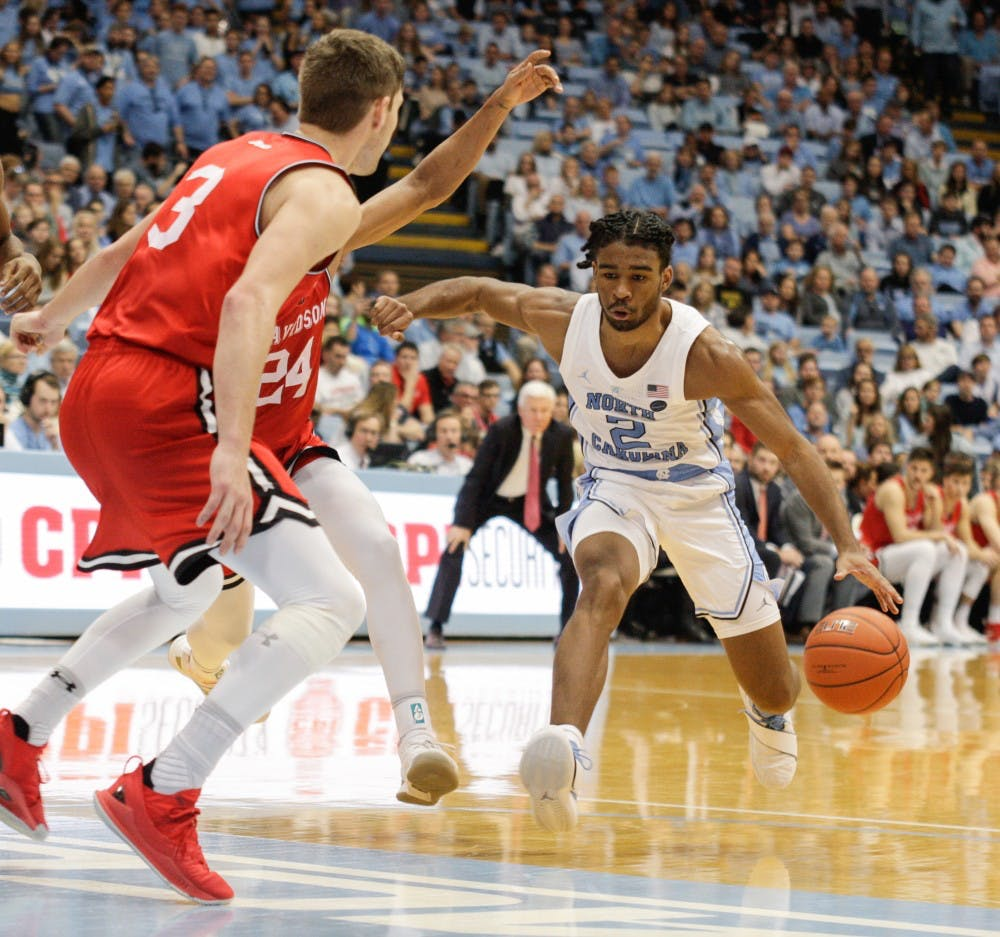 No. 14 UNC men's basketball runs away from Davidson, 82-60, for ninth win
