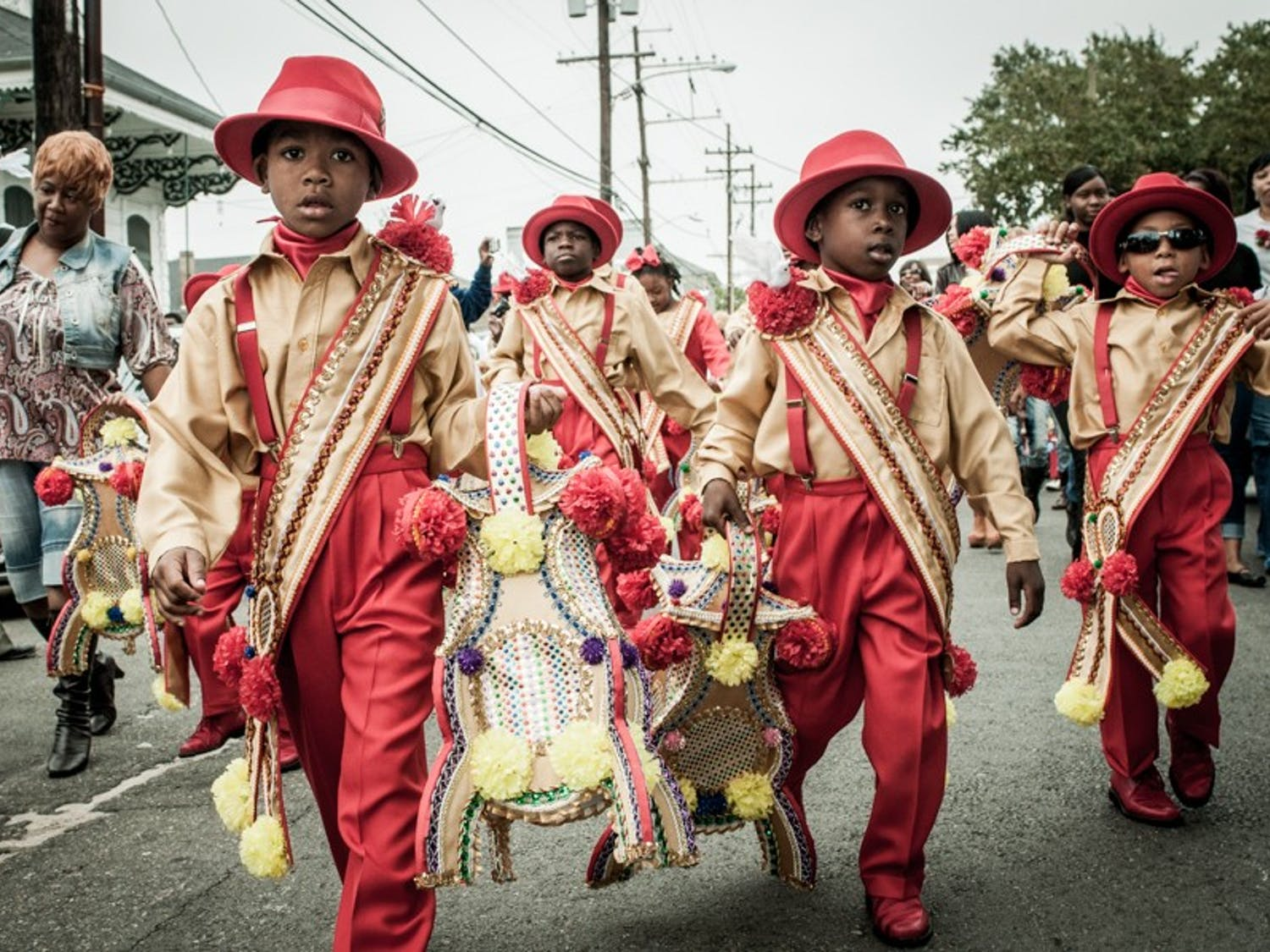 A photograph of a Second Line parade in New Orleans. Photo courtesy of Pableaux Johnson.