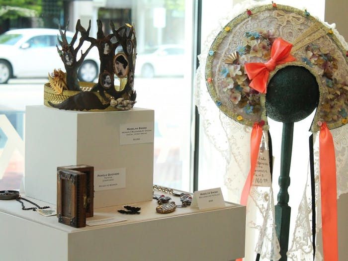 The opening of Steamworks: Art, Stories, & Adornments, an exploration of the thematic genre of Steampunk at The Ackland Museum Store