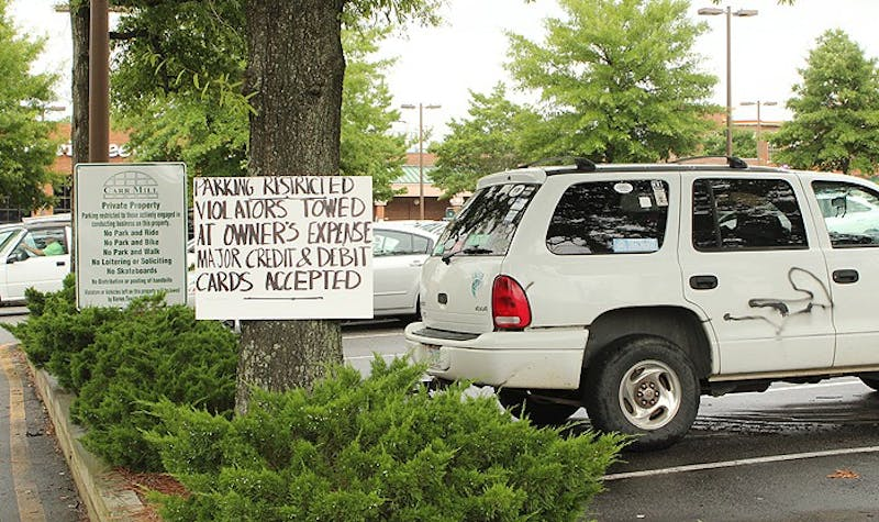 Carr Mill Mall representatives blame limited parking availability for the towing problems, as people continue to park in restricted lots.