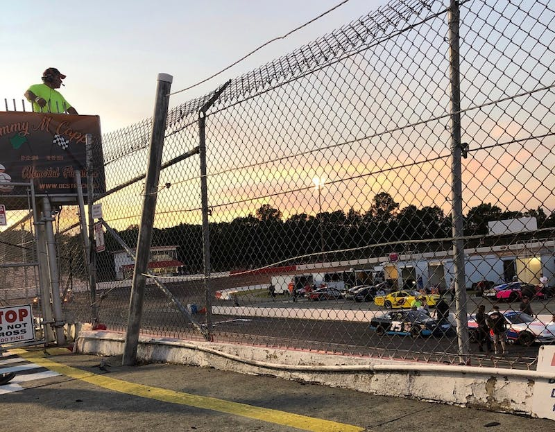 Drivers get ready for their race at the Summer Firecracker Frenzy 200 on Saturday, July 21 at the Orange County Speedway. Photo by Brent Van Vliet.