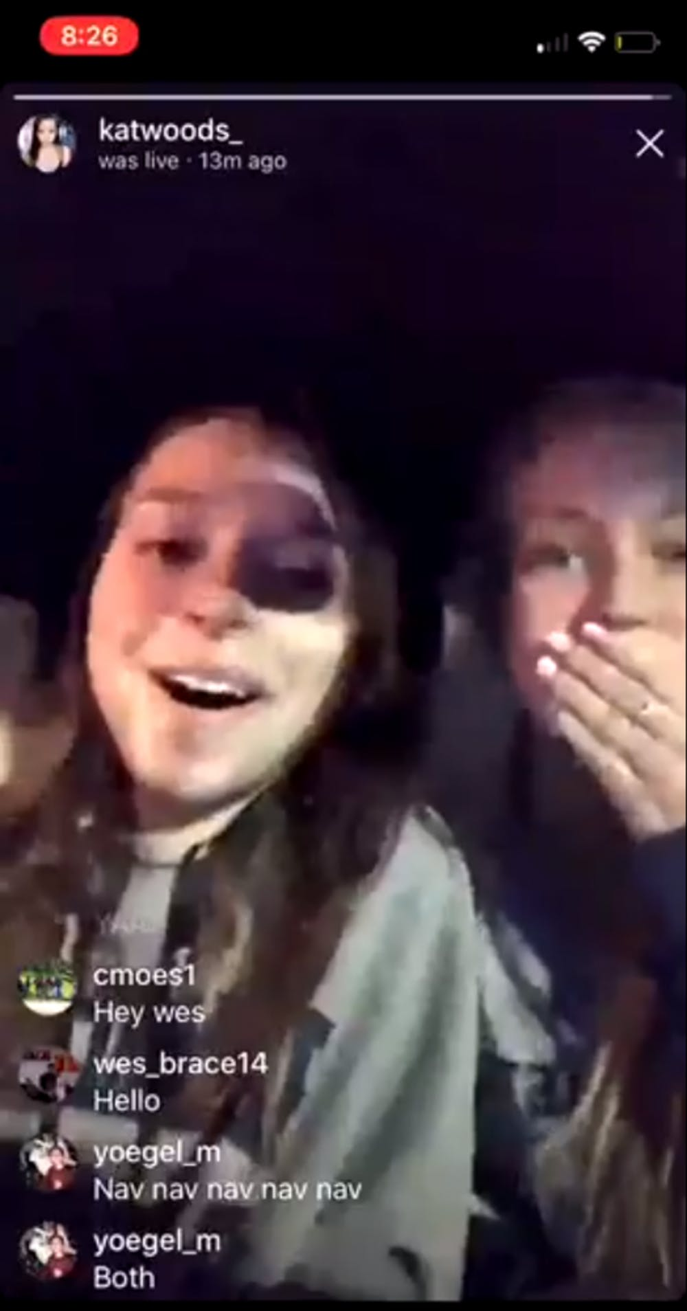 Charlotte de Vries (right) used a racial slur in an Instagram Live video.