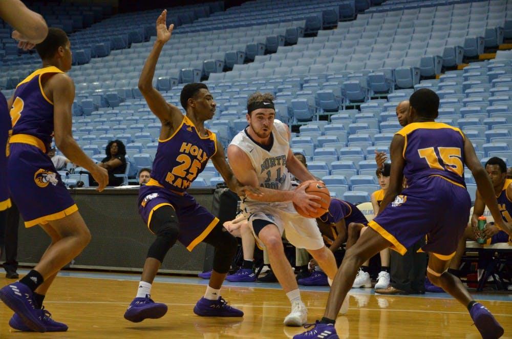 UNC JV basketball handles high school basketball powerhouse, 90-73