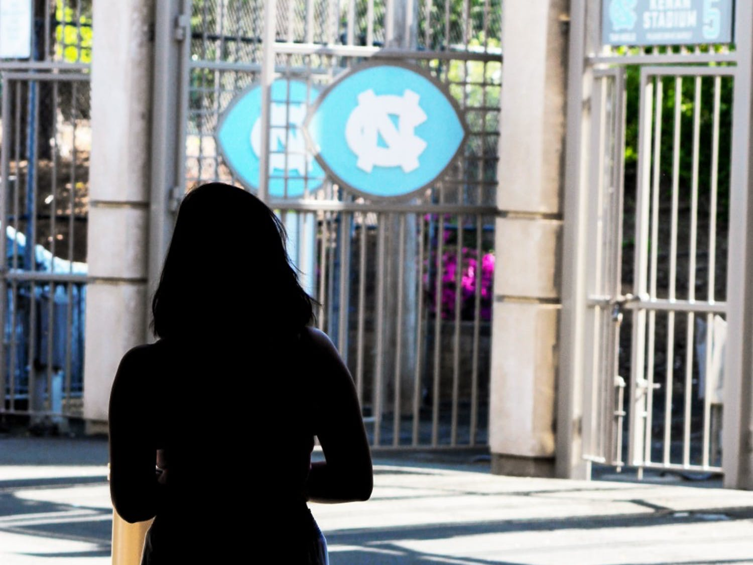 According to UNC student responses to the AAU survey, over 68 percent of students who reported being sexually assaulted in any manner said they never reported the assault because they thought it would be too difficult or embarrassing, or that it wasn't serious enough. Clarification: This photo was taken at Kenan Stadium to show the UNC logo. The story does not involve the football team in any way.