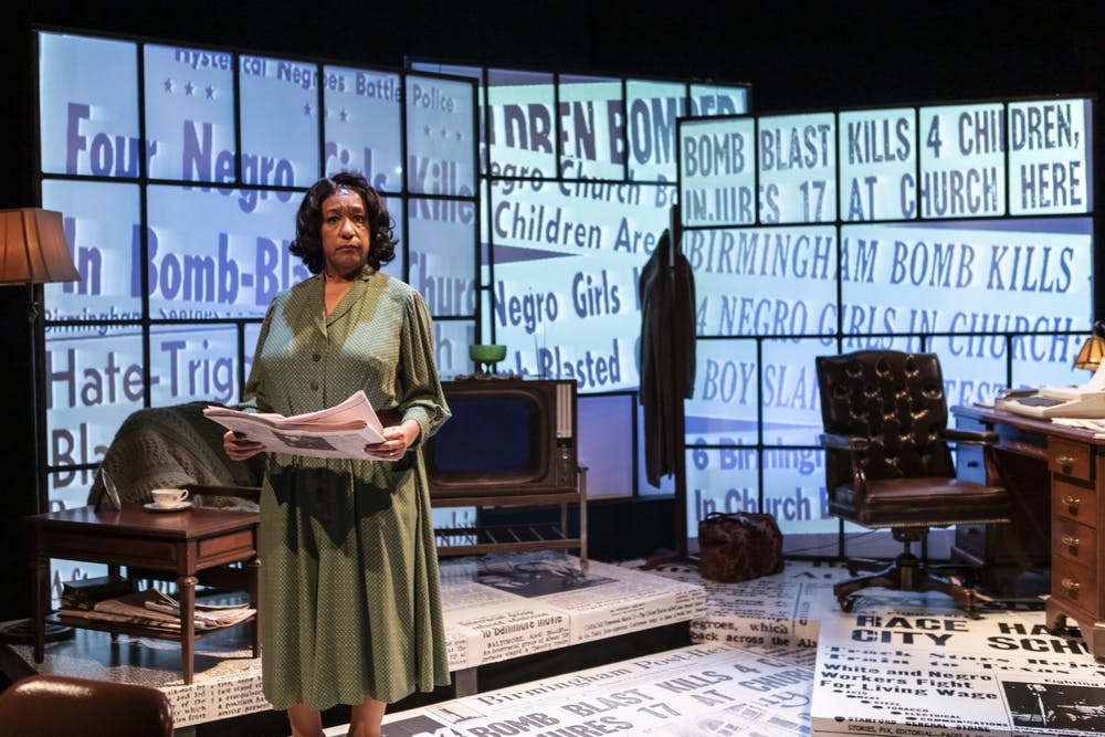 "<p>PlayMakers Repertory Company is hosting Jacqueline E. Lawton's recent play, ""Edges of Time,"" which shows the life of Marvel Cooke, the first Black woman journalist to have her own byline in a major U.S. newspaper. The one-woman show stars Kathryn Hunter-Williams as Cooke. Photo courtesy of Alex Maness.&nbsp;</p>"