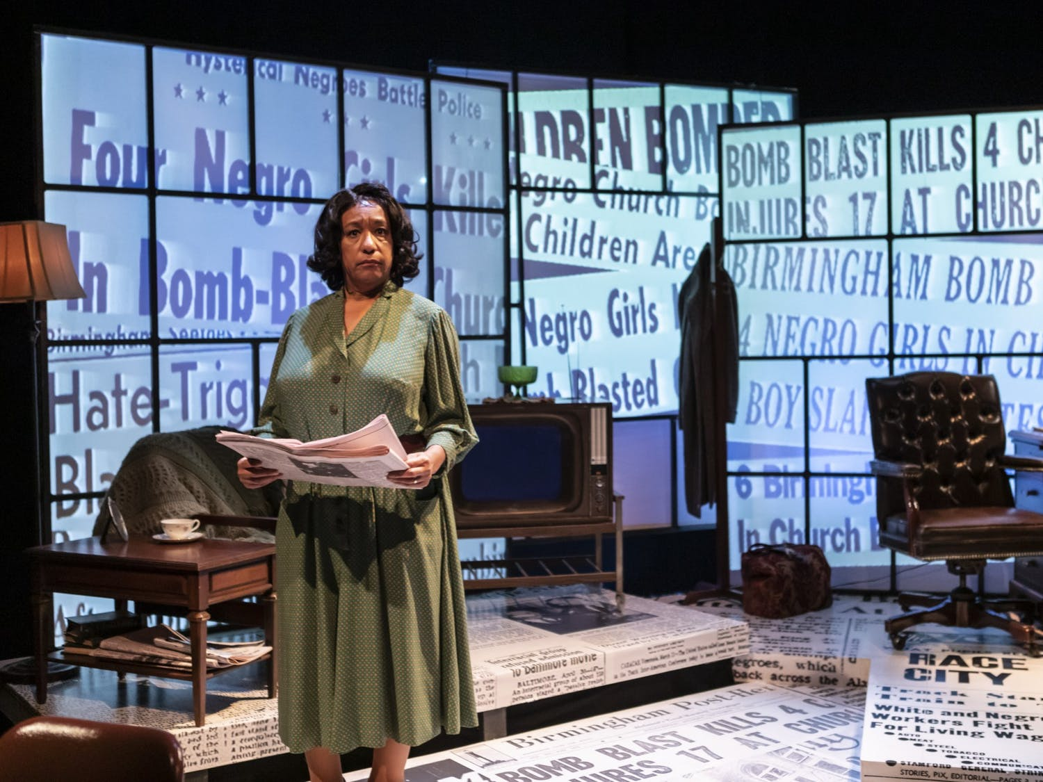 """PlayMakers Repertory Company is hosting Jacqueline E. Lawton's recent play, """"Edges of Time,"""" which shows the life of Marvel Cooke, the first Black woman journalist to have her own byline in a major U.S. newspaper. The one-woman show stars Kathryn Hunter-Williams as Cooke. Photo courtesy of Alex Maness."""