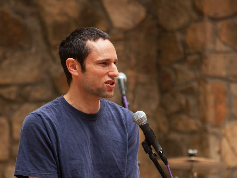 Charles Eisenstein, Occupy organizer, speaks at alternative commencement.