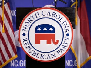 The NCGOP holds a watch party as results are announced on election night on Tuesday, Nov. 3, 2020.