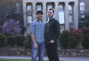 Tyler Millsaps (left) and his boyfriend Sean Szitas have been dating for almost nine months.