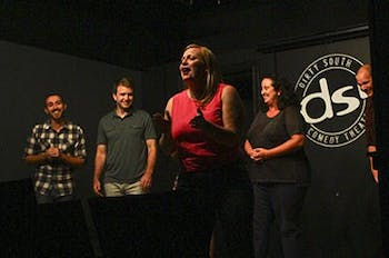 Improv 101 students put on a showcase at DSI comedy club in Chapel Hill on Tuesday evening.