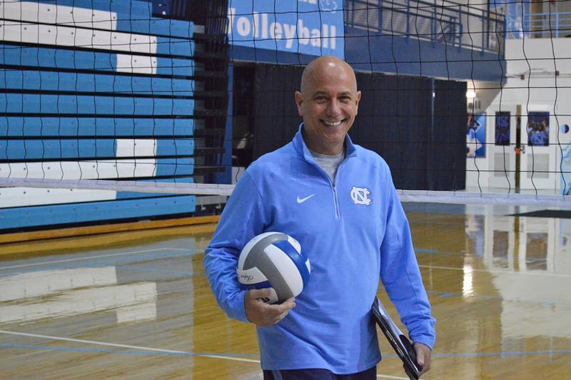 Volleyball head coach Joe Sagula is entering his 26th year at UNC. The Tar Heels take on Duke September 1.