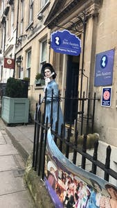 Outside of the Jane Austen Centre.