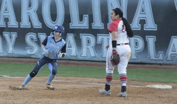 The women's softball team played a home game against Ohio State on Friday.