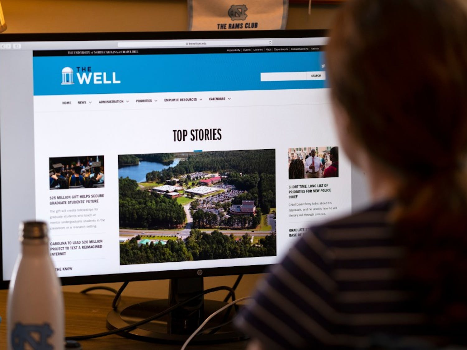 Promotional image for The Well, courtesy of University Communications.