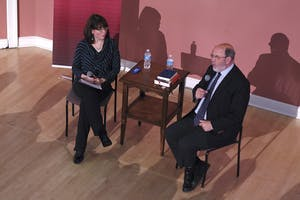 New Testament scholar N.T. Wright answered questions about faith and the Bible in Gerrard Hall on Monday.