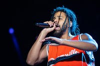 J. Cole returned to North Carolina for the inaugural Dreamville Festival on Saturday, April 6, 2019 at Dorothea Dix Park in Raleigh, N.C.