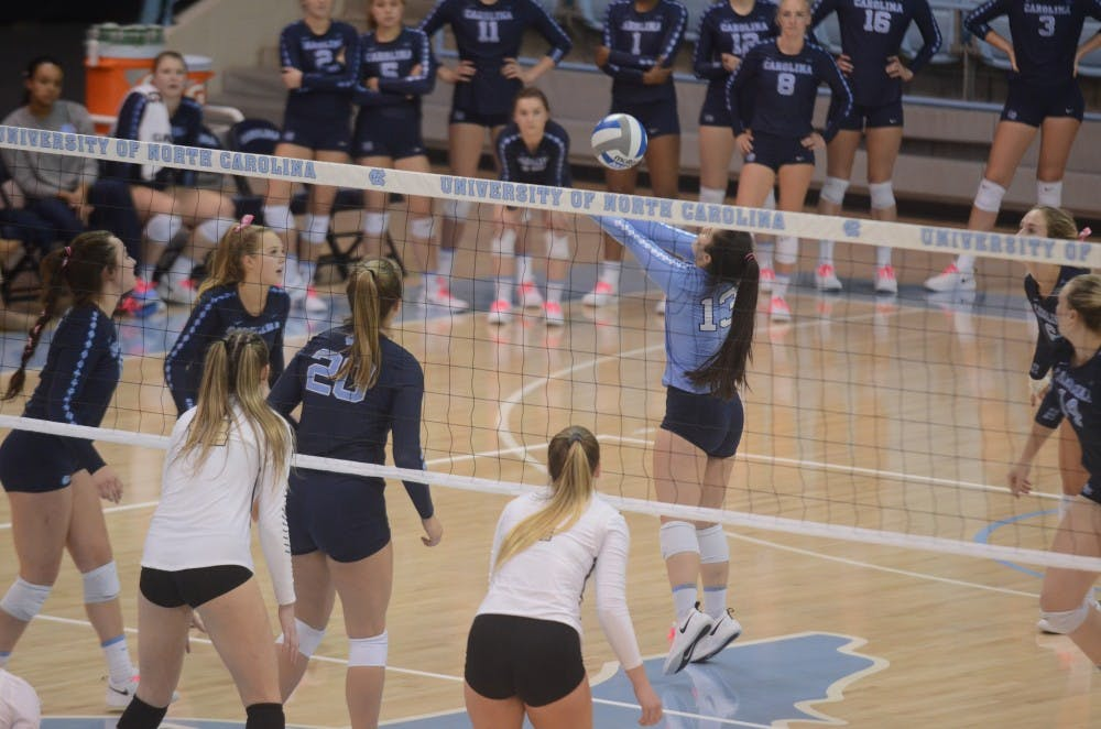 UNC volleyball drops second ACC match of the season to Louisville, 3-1