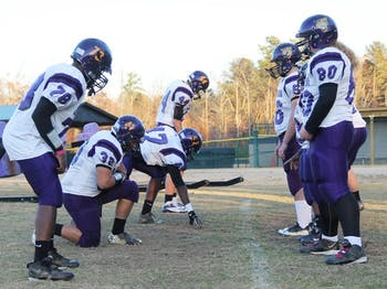 The Carrboro High football team is playing in the state championship on Friday, after only having a football program for 6 years. They are practicing hard this week in preparation for the big game.