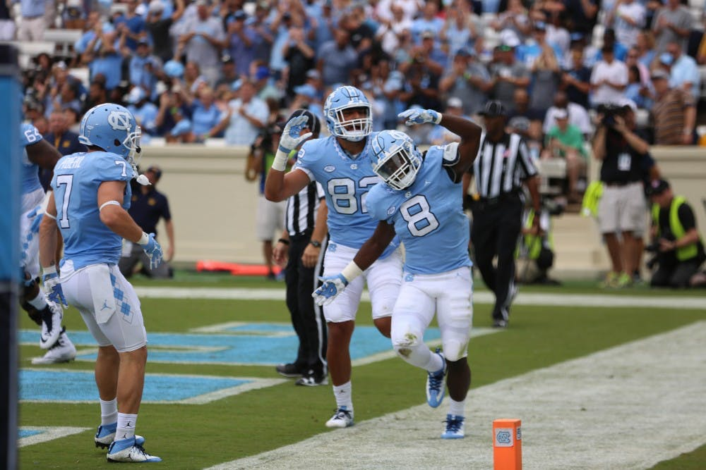 UNC's Michael Carter started his own road to glory on Saturday