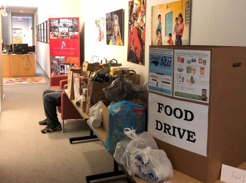 Campus food drive. Photo provided by Katie Musgrove.
