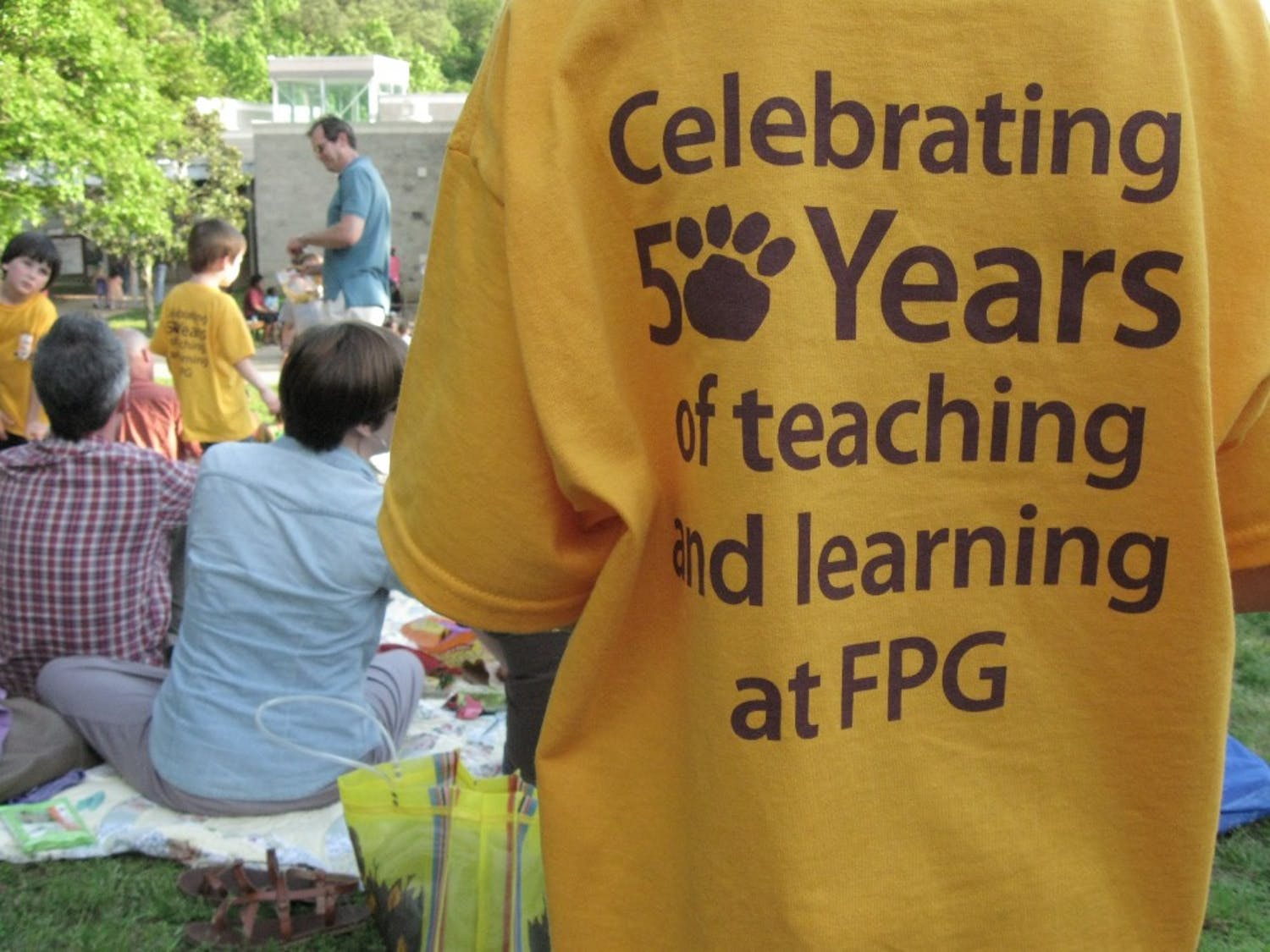 FPG staff distributed t-shirts Thursday night as part of the school's 50th anniversary celebration.