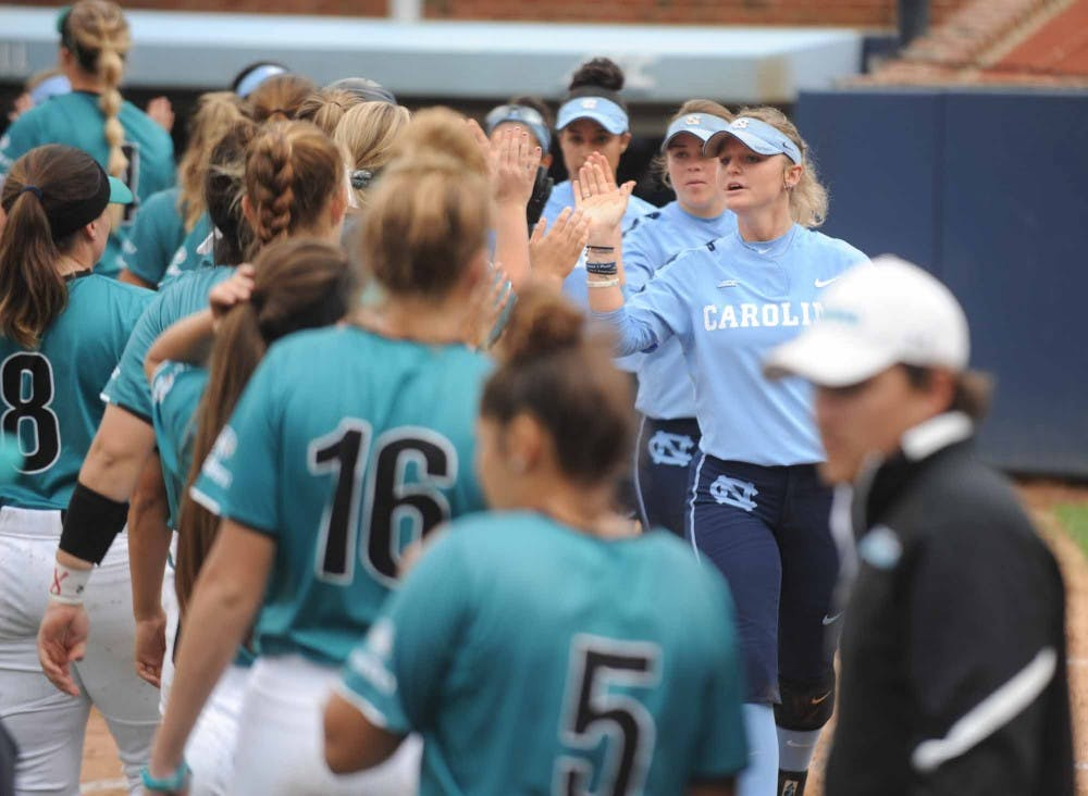 UNC softball captures fourth-straight mercy-rule win in shutout of Coastal Carolina