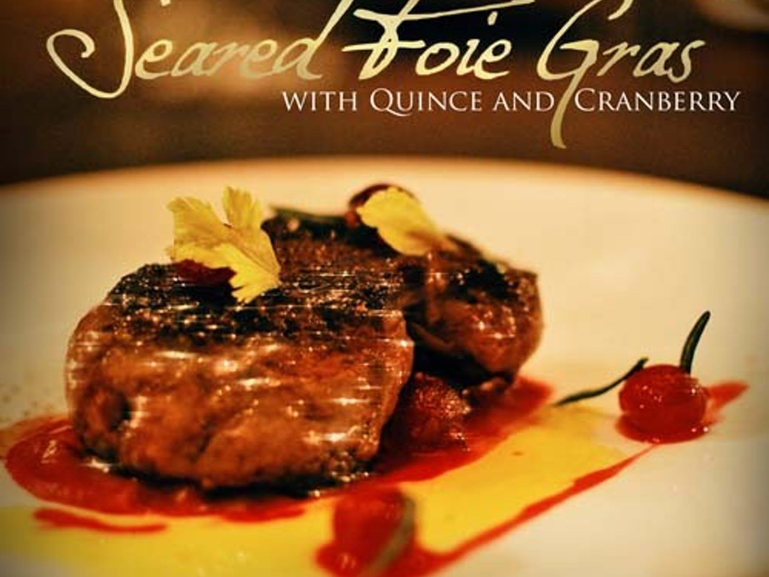 Seared Foie-Gras with Quince and Cranberry