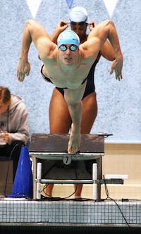 The Carolina men's and women's swimming and diving teams hosted Maryland in a meet at the Koury Natatorium on Saturday, Nov. 5, 2011.