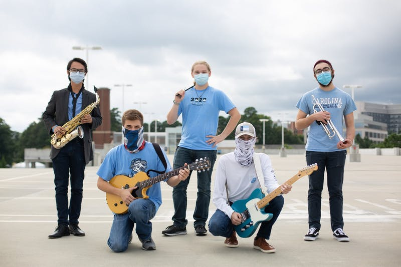 Meet five of the members of newly-formed UNC first-years' band Gum Box