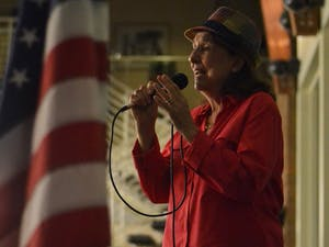 The Orange County Department on Aging invited local veterans to celebrate a Veterans' Music Fest on Nov. 9. Marie Vanderbeck sings for the crowd.