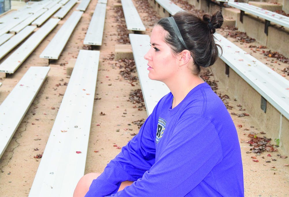 <p>Kathryn &nbsp;Thacker, a first year public policy major from Durham, was at sidelined from soccer with a concussion in 2015.&nbsp;</p>