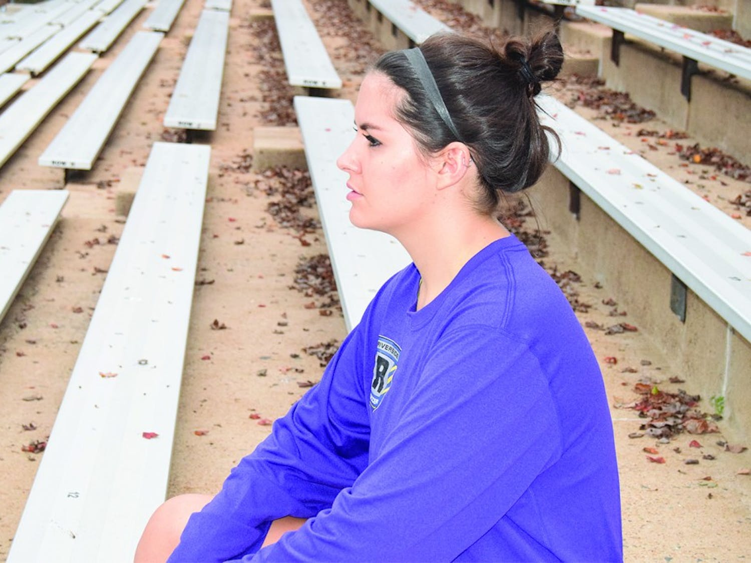 Kathryn Thacker, a first year public policy major from Durham, was at sidelined from soccer with a concussion in 2015.