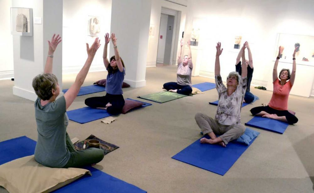 Ackland takes the stress out of Mondays with Yoga in the Galleries