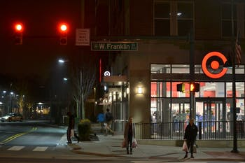 Franklin street remains busy as Chapel Hill residents and students make trips to Target.