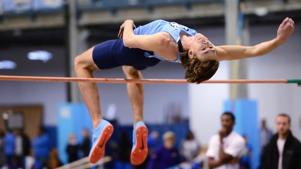 High jumper Draven Crist clears a career-high 7.025 feet for UNC track and field