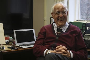 Fred Brooks is a recently retired professor who has won a Turing Award, the first technology award in 1985 (With Steve Jobs and Wosniack) and started the computer science program at UNC (second ever only behind Purdue). He also has a building named after him on campus.