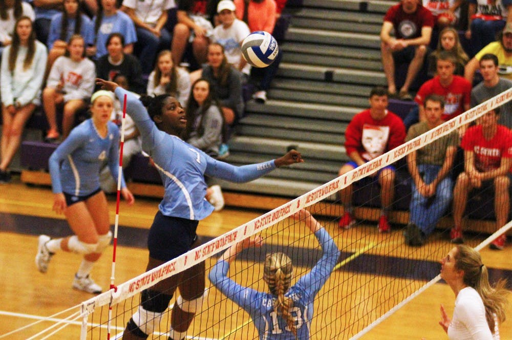 Victoria McPherson's all-around play led UNC volleyball to a victory