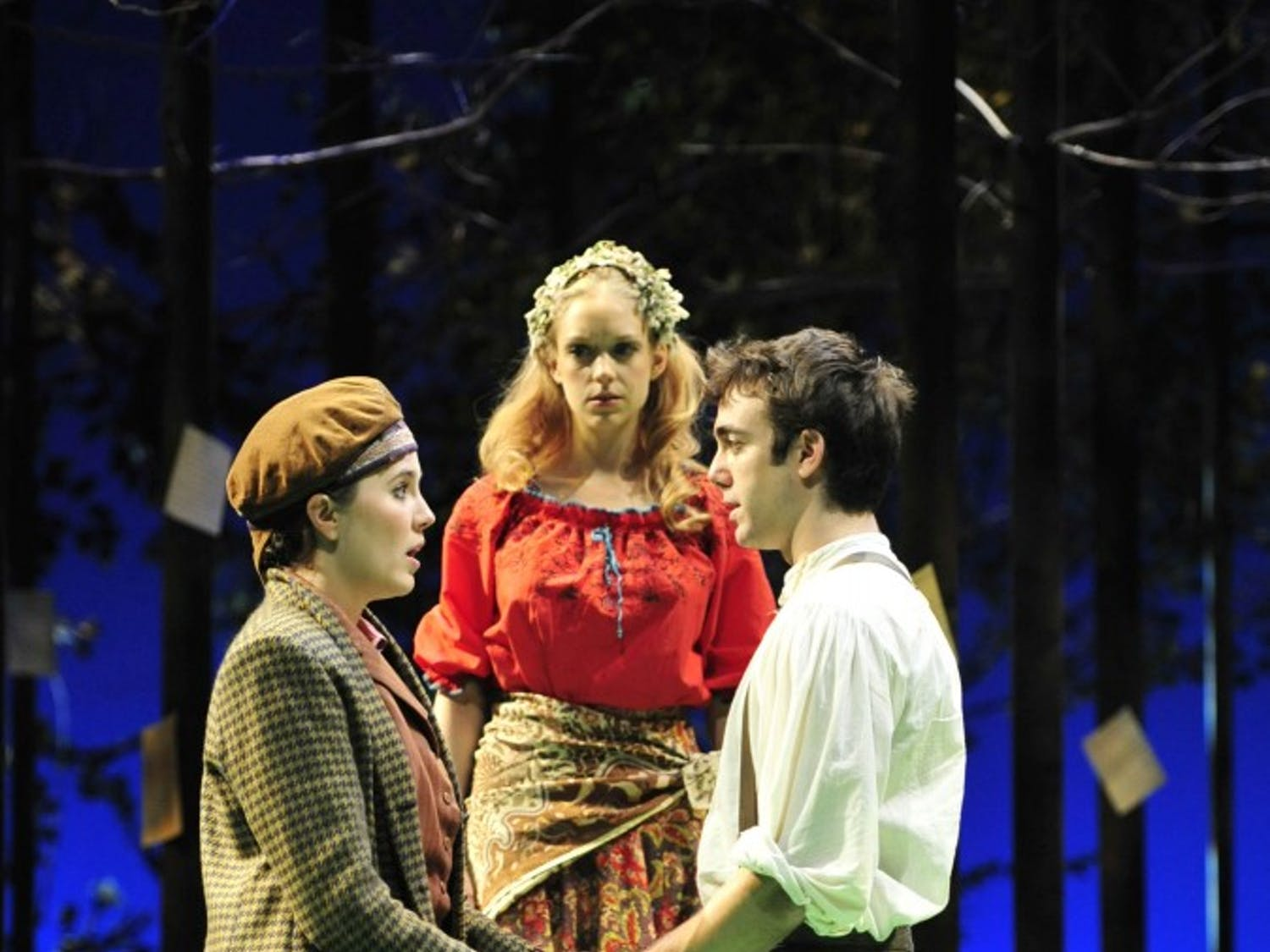 """William Shakespeare's comedic masterpiece """"As You Like It"""" opened Sept. 22 in the Paul Green Theatre as the first mainstage production at PlayMakers Repertory Company. The show, a classic of mistaken identities and mixed up romances, runs until Oct. 10."""