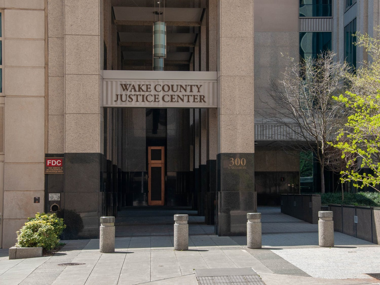 The Wake County Justice Center in downtown Raleigh, NC on April 4, 2021. A bill that was recently passed in the senate about raising the minimum age for juvenile delinquency from 6 to 10 now moves to the house.