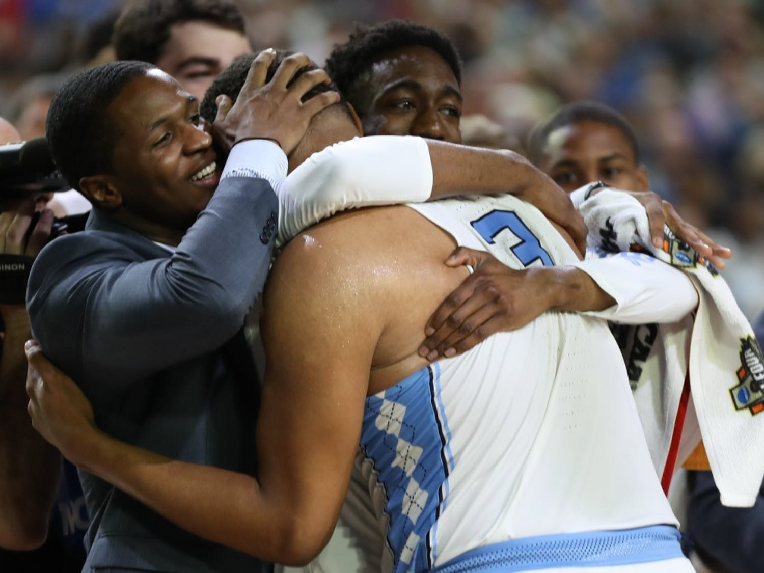 The North Carolina men's basketball team defeated Oregon 77-76 in a Final Four matchup. The Tar Heels will play the Gonzaga Bull Dogs for the National Championship on Monday night, a year after losing to Villanova.