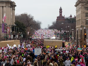 The crowd in Washington D.C. for the Women's March was estimated to consist of more than 500,000 people on Jan. 21, 2017.