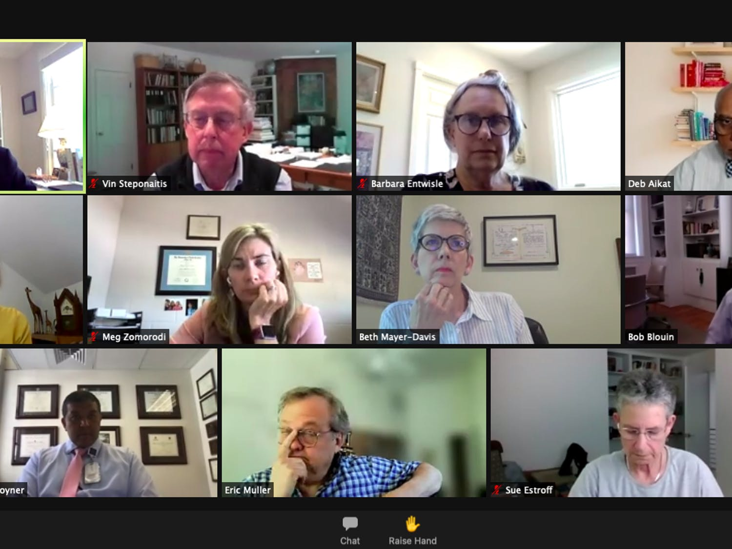 Members of the Faculty Executive Committee met over Zoom on Monday April 26, 2021 to discuss summer and fall plans and the possibility of a vaccine mandate.