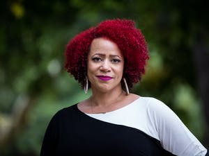 """Nikole Hannah-Jones is an investigative reporter covering racial injustice for The New York Times Magazine and the creator of """"The 1619 Project,"""" which marked the 400th anniversary of the arrival of the first ship carrying enslaved Africans to America. Photo courtesy of John D. and Catherine T. MacArthur Foundation."""