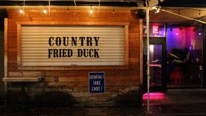 """Country Fried Duck lost its liquor license, however it reopened with the new name """"Night School"""" and a new liquor license."""